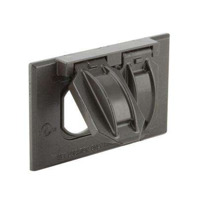 1-Gang Weatherproof Horizontal Mount Flip Lid Device Cover