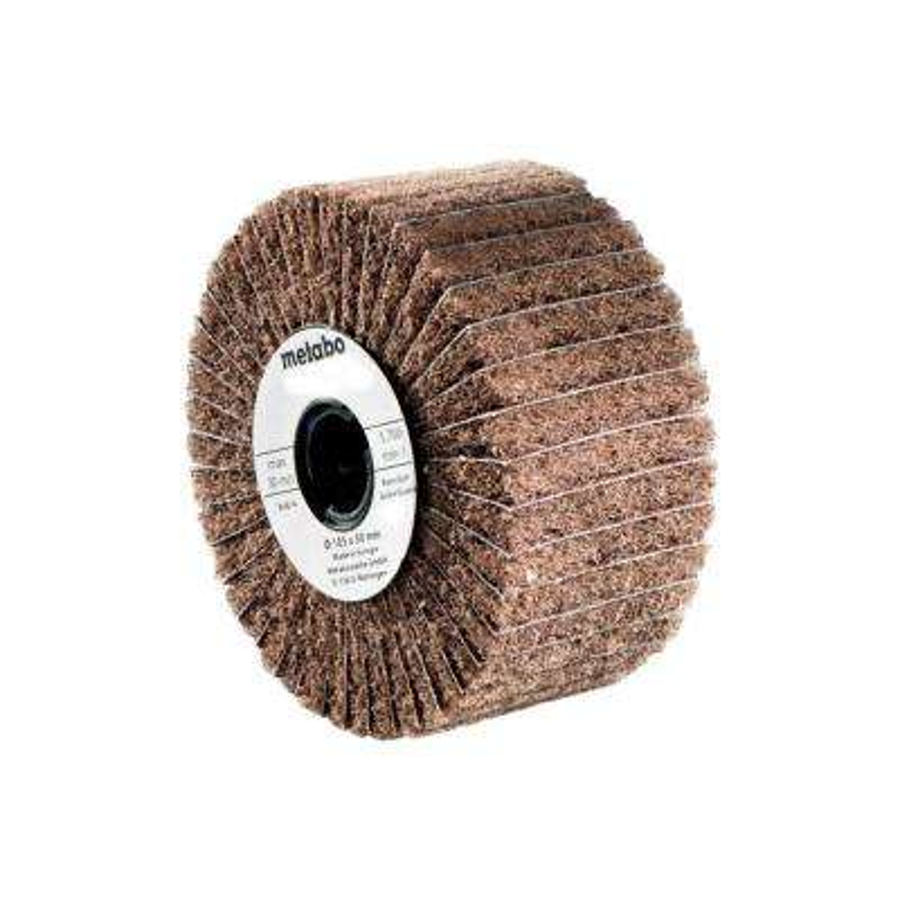 4 in. x 2 in. Flap/Nylon Web Grinding Wheel P180