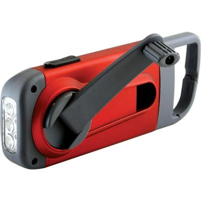American Red Cross Clip Ray Crank-Powered, Clip-On LED Flashlight and Smartphone Charger