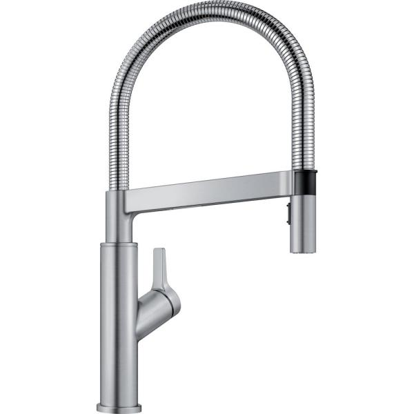 Solenta Senso Semi-Pro Single-Handle Pull-Down Sprayer Kitchen Faucet with Automatic Sensor in Stainless