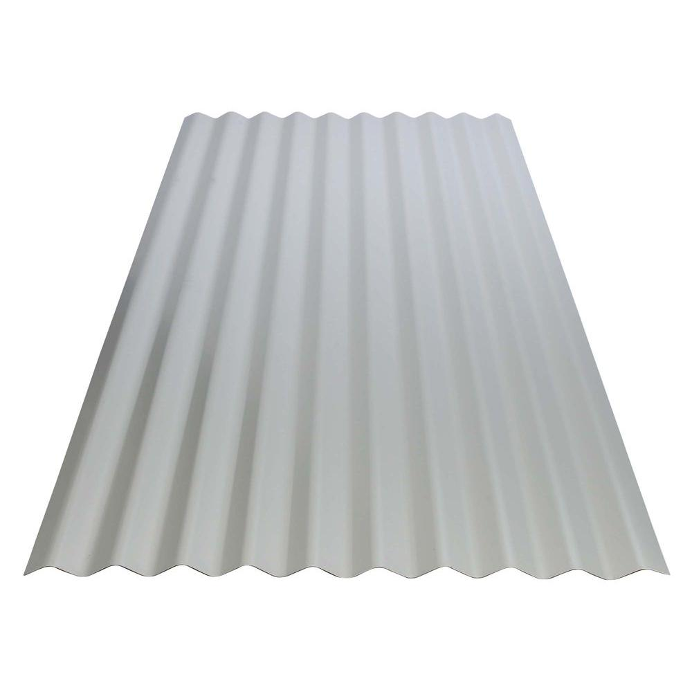 Gibraltar Building Products 12 ft. Corrugated Galvanized Steel 29-Gauge Roof Panel