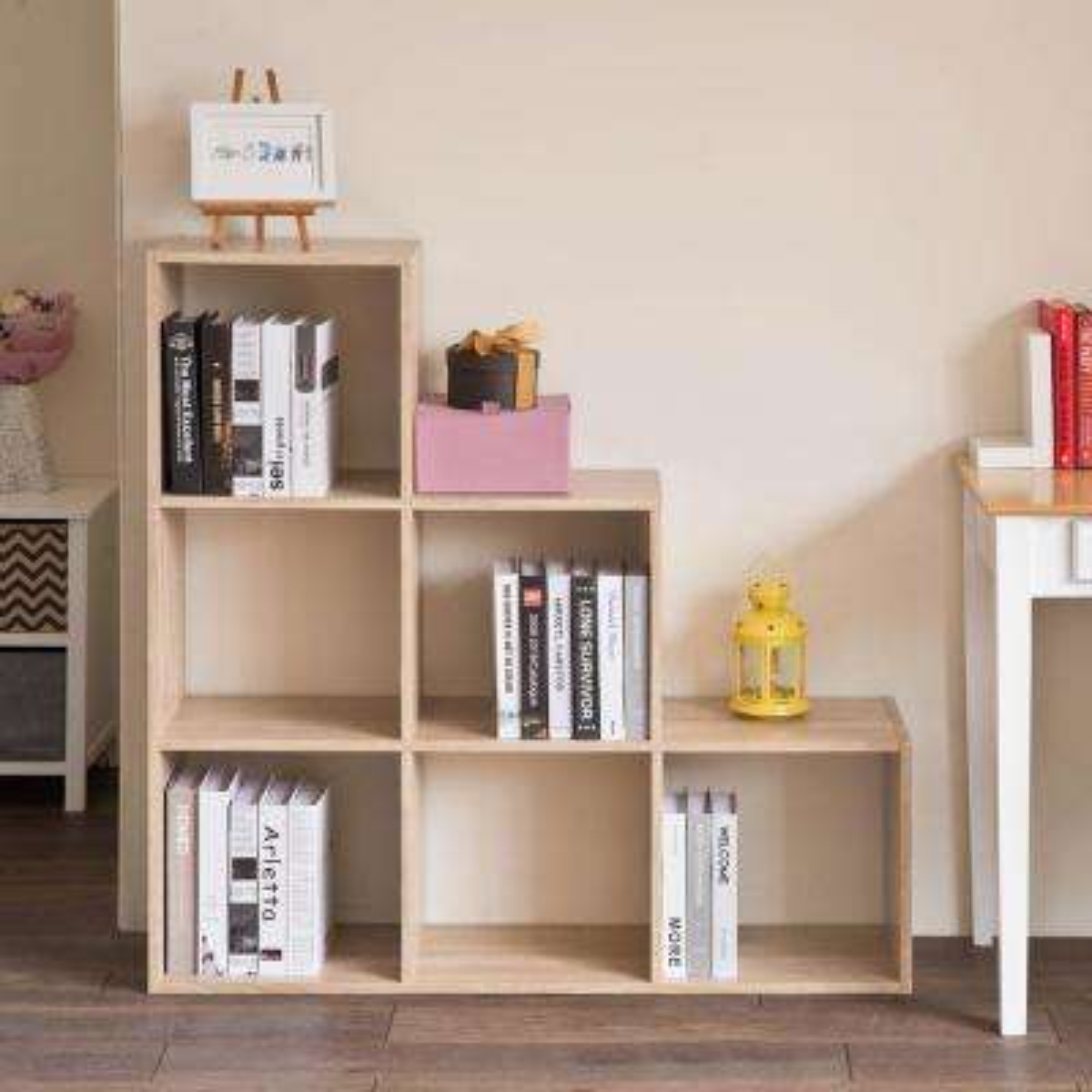 6-Cubes Brown Organizer Storage Shelf Closet Cabinet Bookshelf