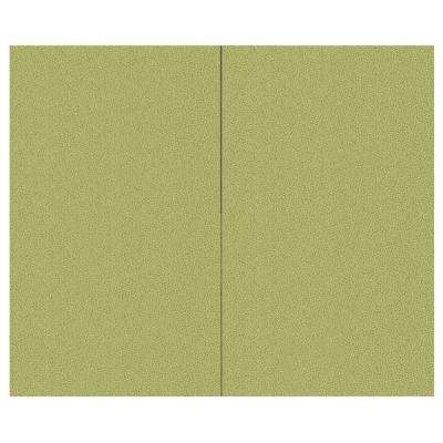 44 sq. ft. Green Olive Fabric Covered Top Kit Wall Panel