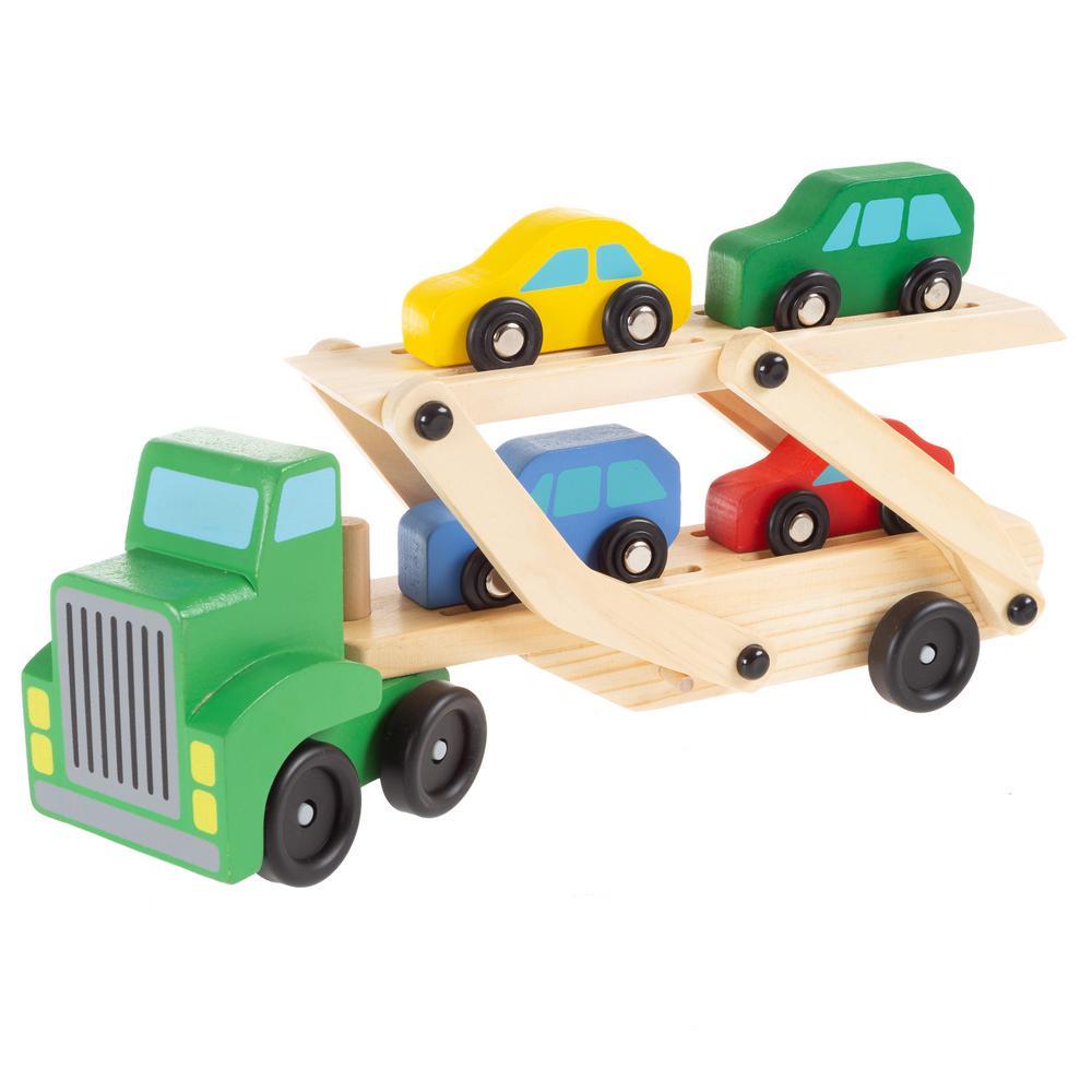 Wooden Transport Truck Playset