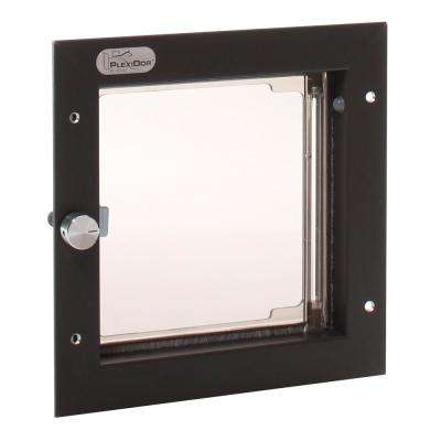 6-1/2 in. x 7-1/4 in. Door Mount Bronze Small Cat or Small Dog Door