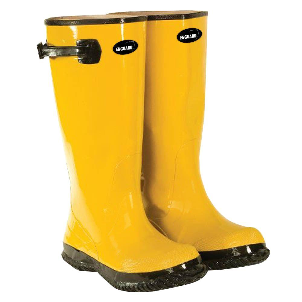 c8228be8851f1 Enguard Men's Size 14 Yellow Rubber Slush Boots-EGSB-14 - The Home Depot