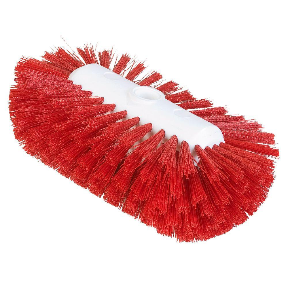 5.5 in. x 9.0 in. Red Tank and Kettle Scrub Brush
