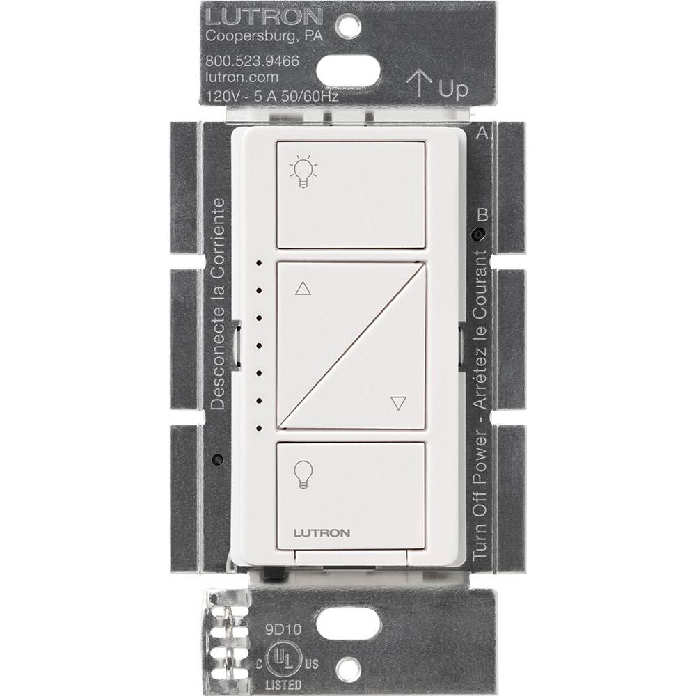 Caseta Wireless Smart Lighting Dimmer Switch For Wall And Ceiling Lights White