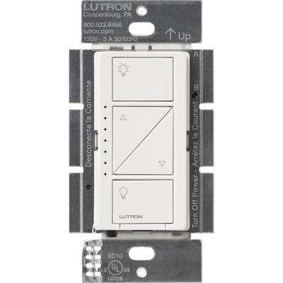 Caseta Wireless 600/150-Watt Single Pole In-Wall Dimmer - White