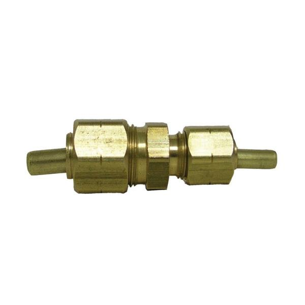 5/8 in. x 3/8 in. OD Compression Brass Reducing Coupling Fitting