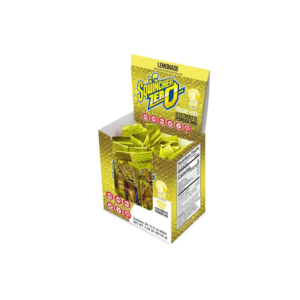Zero Sugar Qwik Stik Single Serve 0.11 oz. Lemonade Electrolyte Drink Mix Powder (120-Stiks per Case)