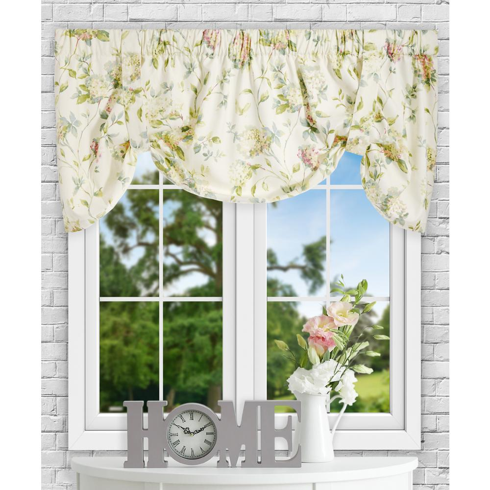 Ellis Curtain Abigail 22 in. L Polyester/Cotton Tie-Up Valance in Multi