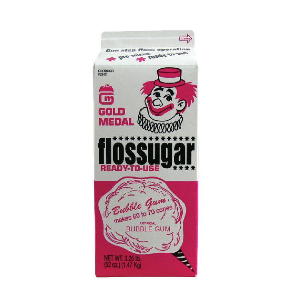Flossugar 1/2 Gal. Bubble Gum
