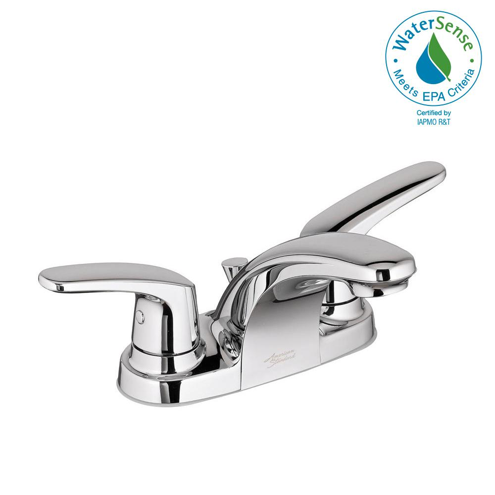 Colony Pro 4 in. Centerset 2-Handle Low-Arc Bathroom Faucet with 50/50