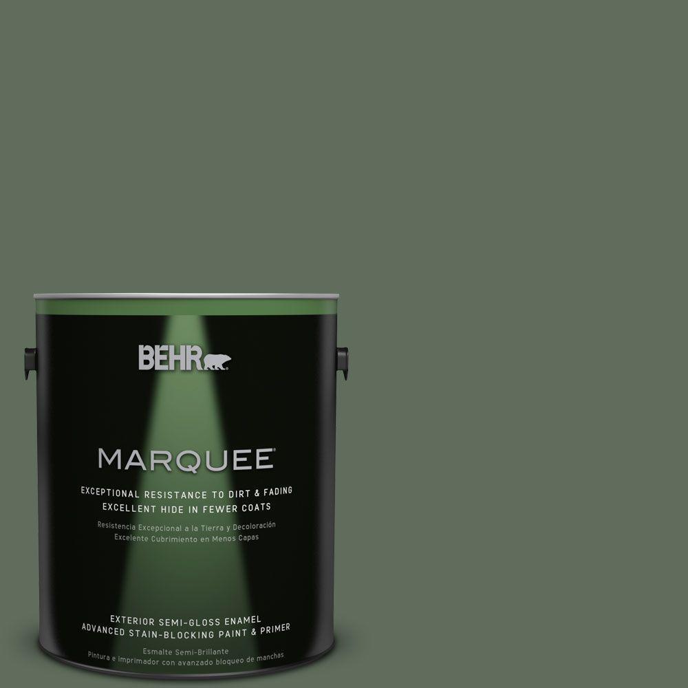 BEHR MARQUEE 1-gal. #N400-6 Terrarium Semi-Gloss Enamel Exterior Paint