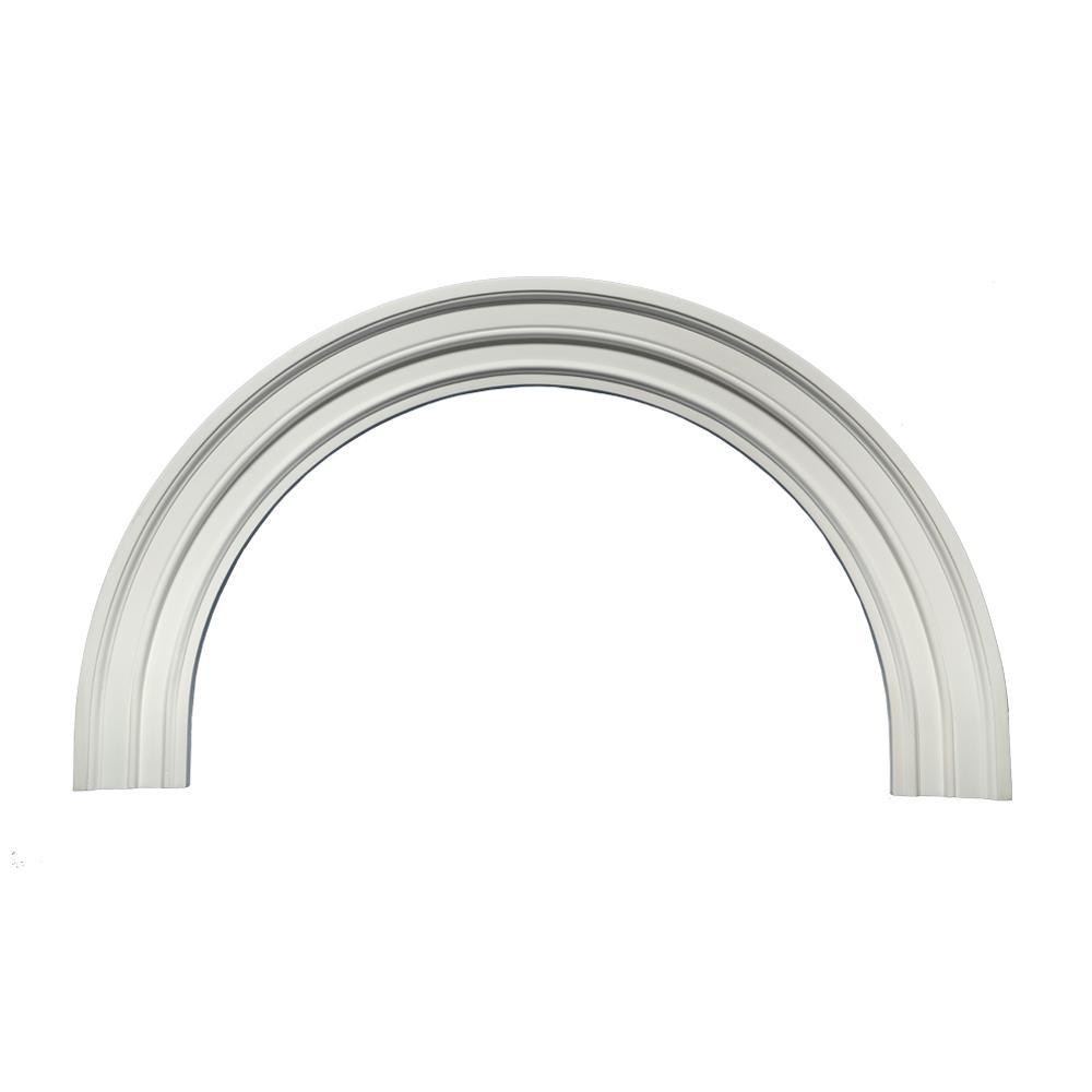 36 in. inside width x 22-1/32 in. inside height x 1-3/4 in. Polyurethane 6M Decorative Half Round Arch Trim