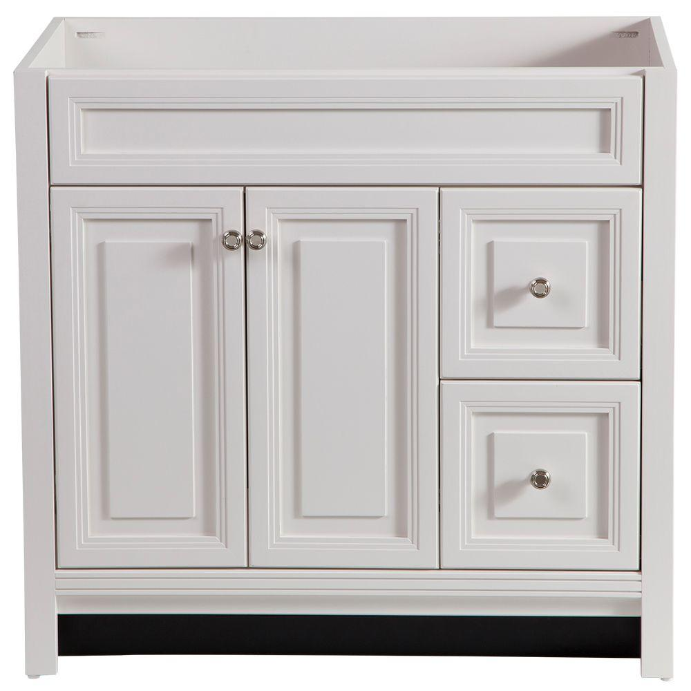 Home decorators collection brinkhill 36 in w bath vanity for White bathroom furniture