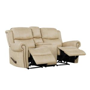 Terrific Prolounger Distressed Latte Tan Faux Leather 2 Seat Rolled Short Links Chair Design For Home Short Linksinfo