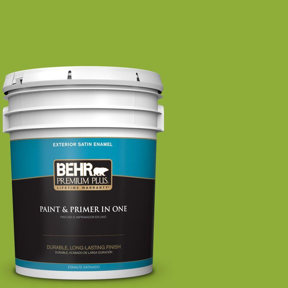 5-gal. #420B-6 New Green Satin Enamel Exterior Paint