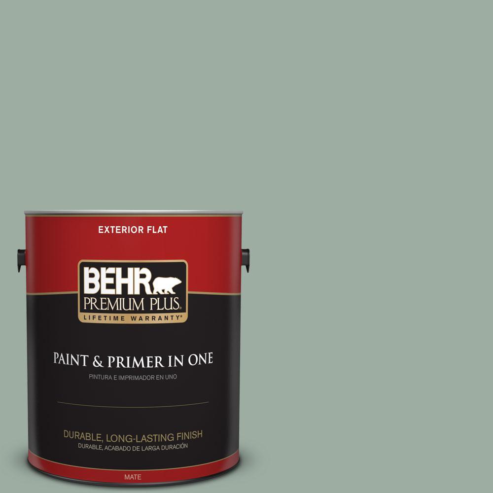 1-gal. #N420-3 Misty Moss Flat Exterior Paint