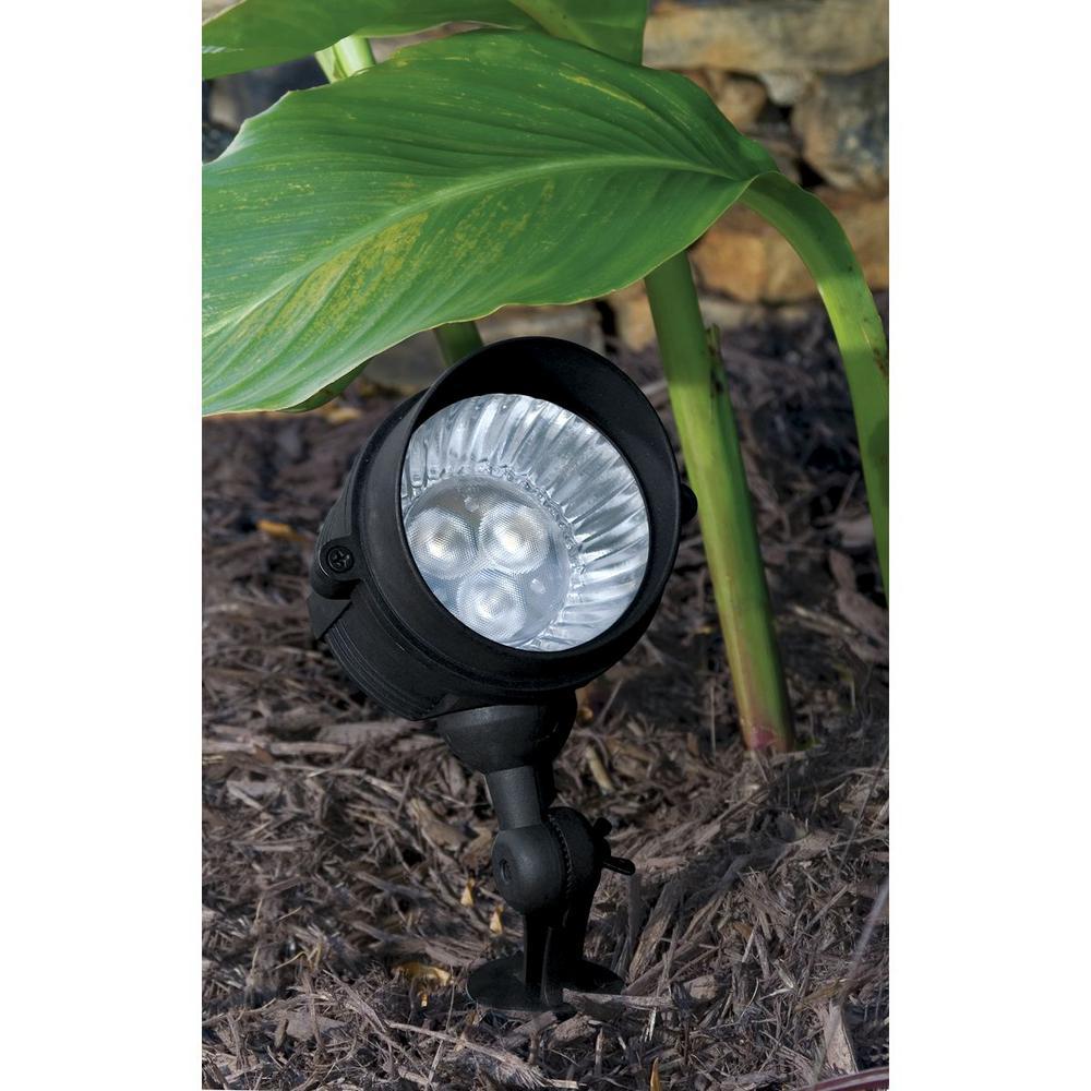 Progress Lighting Low Voltage 20 Watt Equivalent Black Outdoor Integrated Led Landscape Spotlight P5299 31 The Home Depot