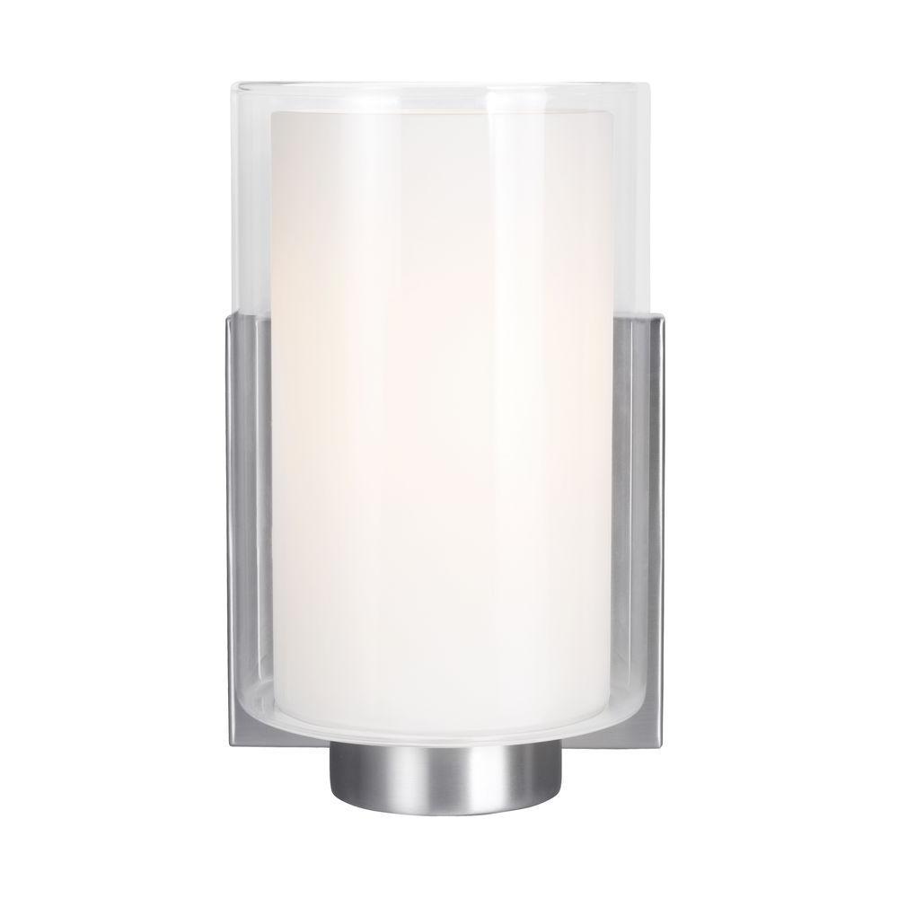Bergin 1-Light Satin Nickel Wall Bath Light