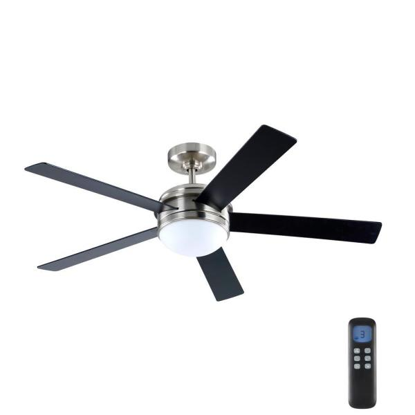 Home Decorators Collection Audrino 52 In Integrated Led Indoor Brushed Nickel Dc Ceiling Fan With Light Kit And Remote Control Fc132 Bmrl Bn The Home Depot
