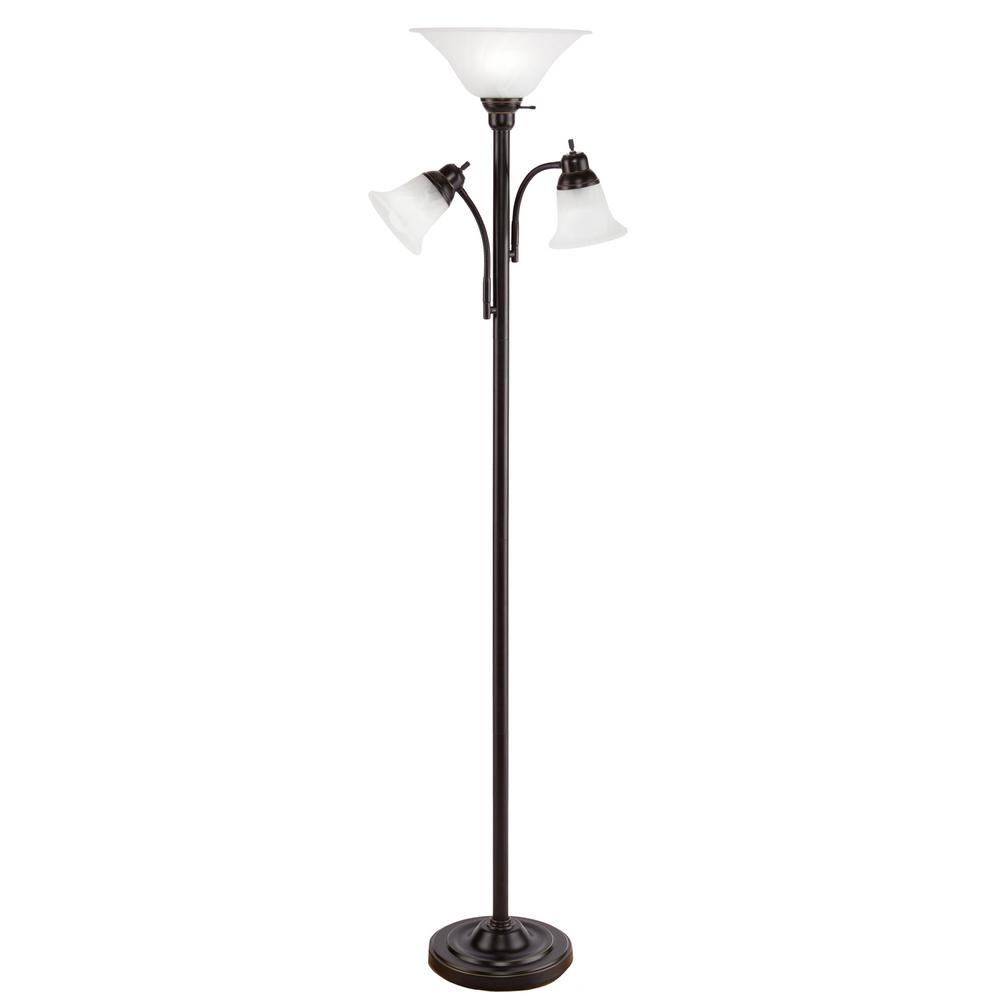 Alsy 59 in. Ravenna Nickel and Black Floor Lamp-19234-000 - The Home ...