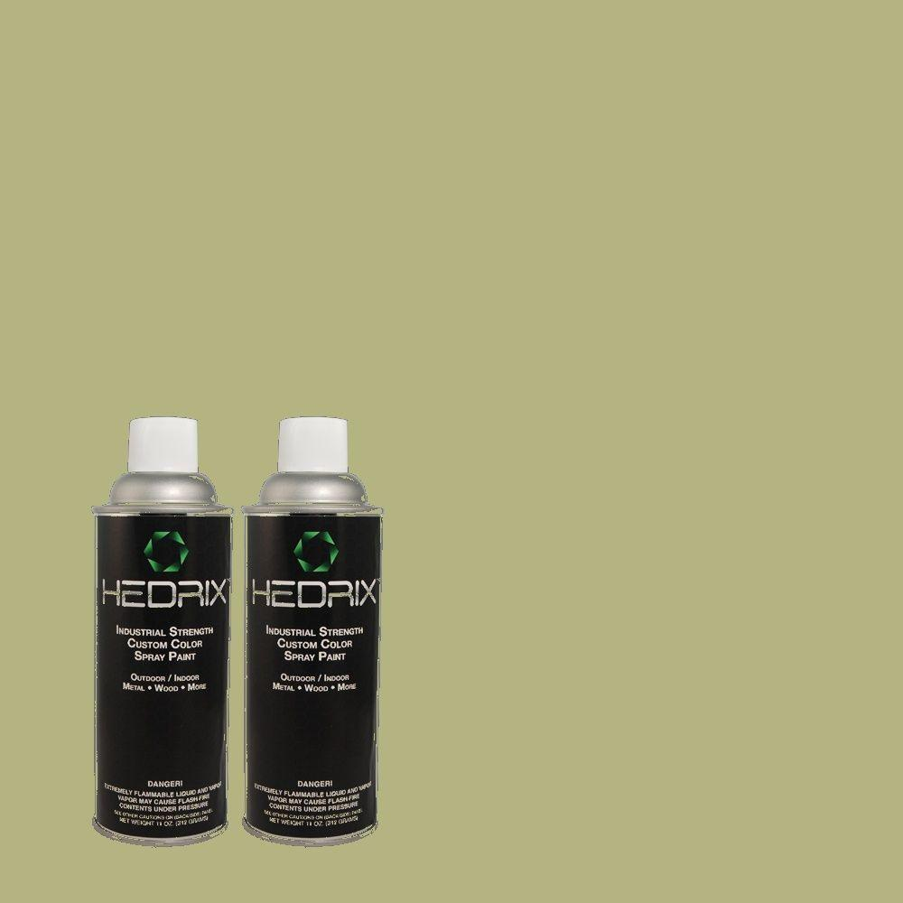 Hedrix 11 oz. Match of 2A62-4 Palm Frond Flat Custom Spray Paint (2-Pack)