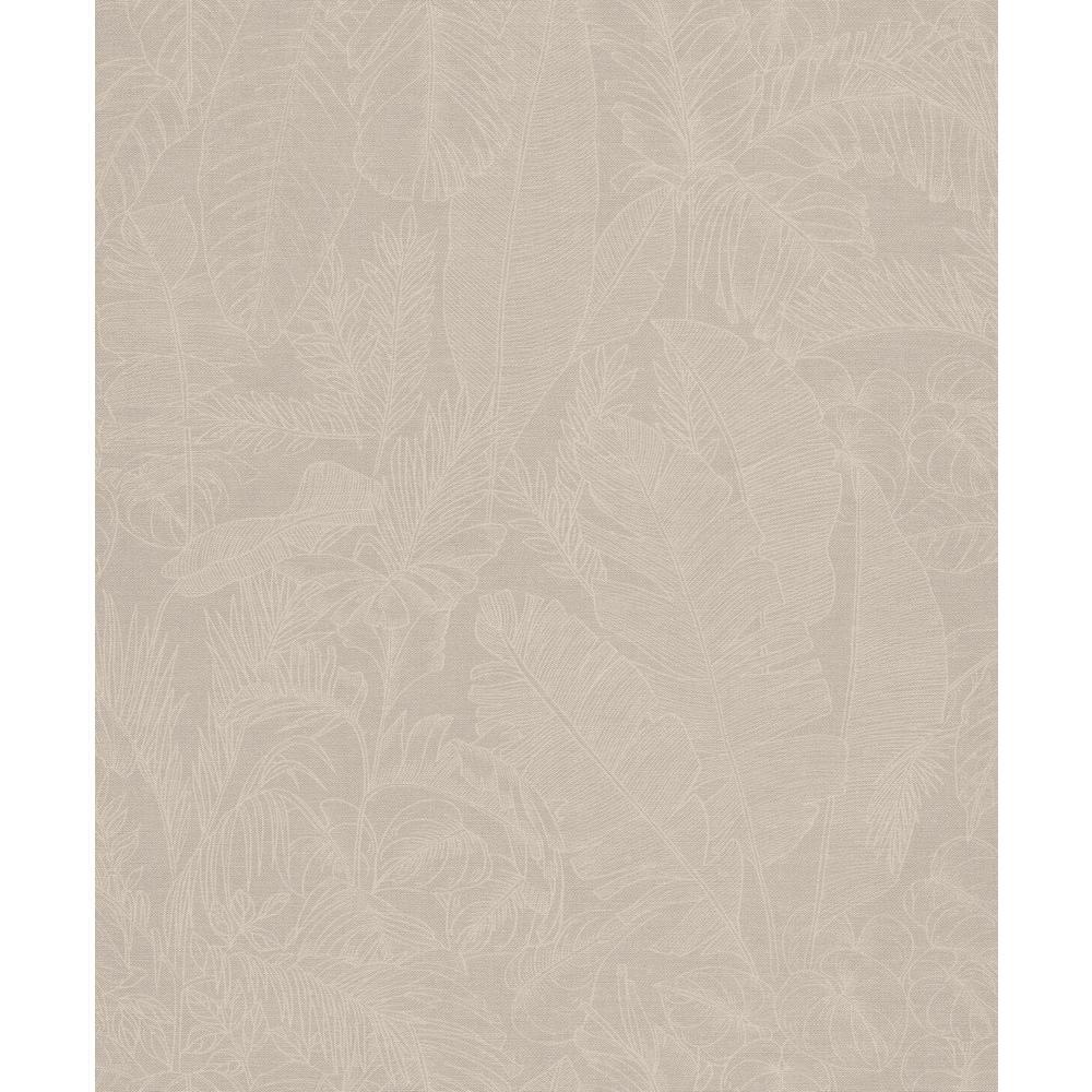Beige Linen Jungle Wallpaper