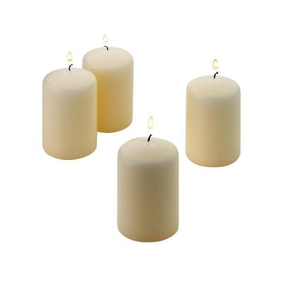 3 in. H x 2 in. W Unscented Vanilla Pillar Candle (Set of 4)