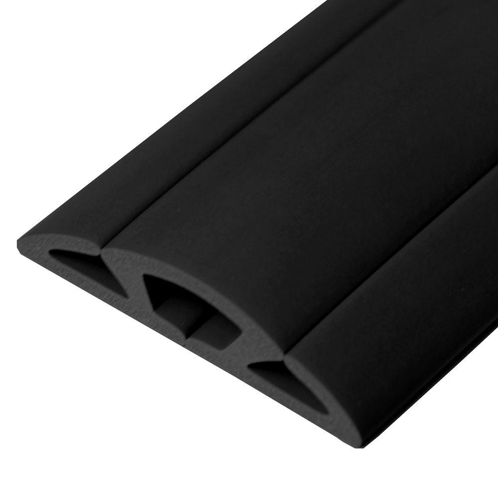 Cord Protector Floor Cable Concealer Wire Cover Cords Hider Black