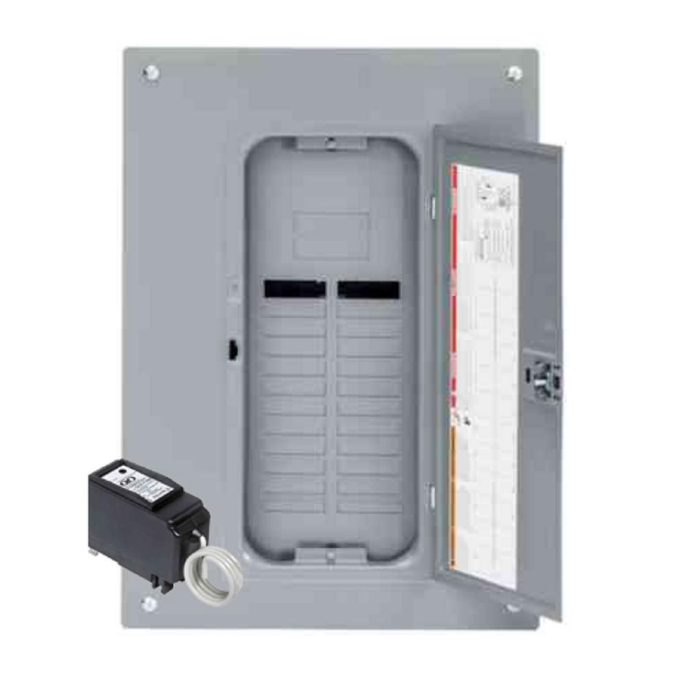 Square D QO 125 Amp 24-Space 24-Circuit Indoor Main Lug Plug-On Neutral Load Center with Cover, Ground Bar, Surge SPD