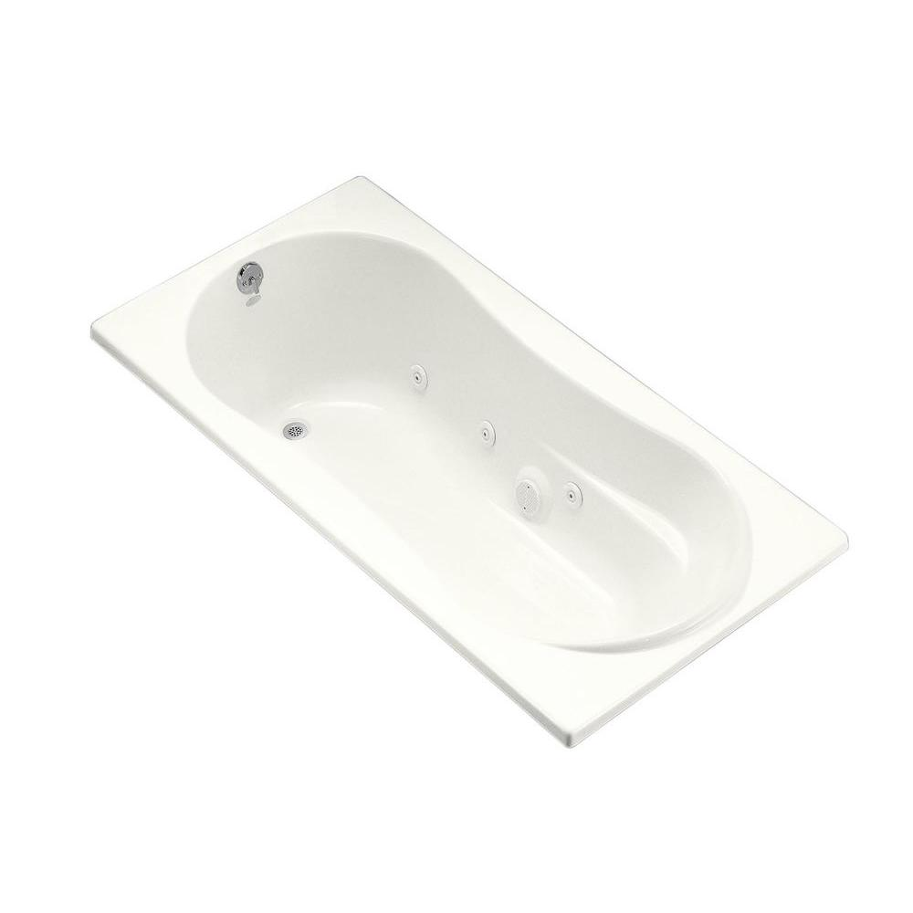 KOHLER 7236 6 ft. Whirlpool Tub with Heater and Reversible Drain ...
