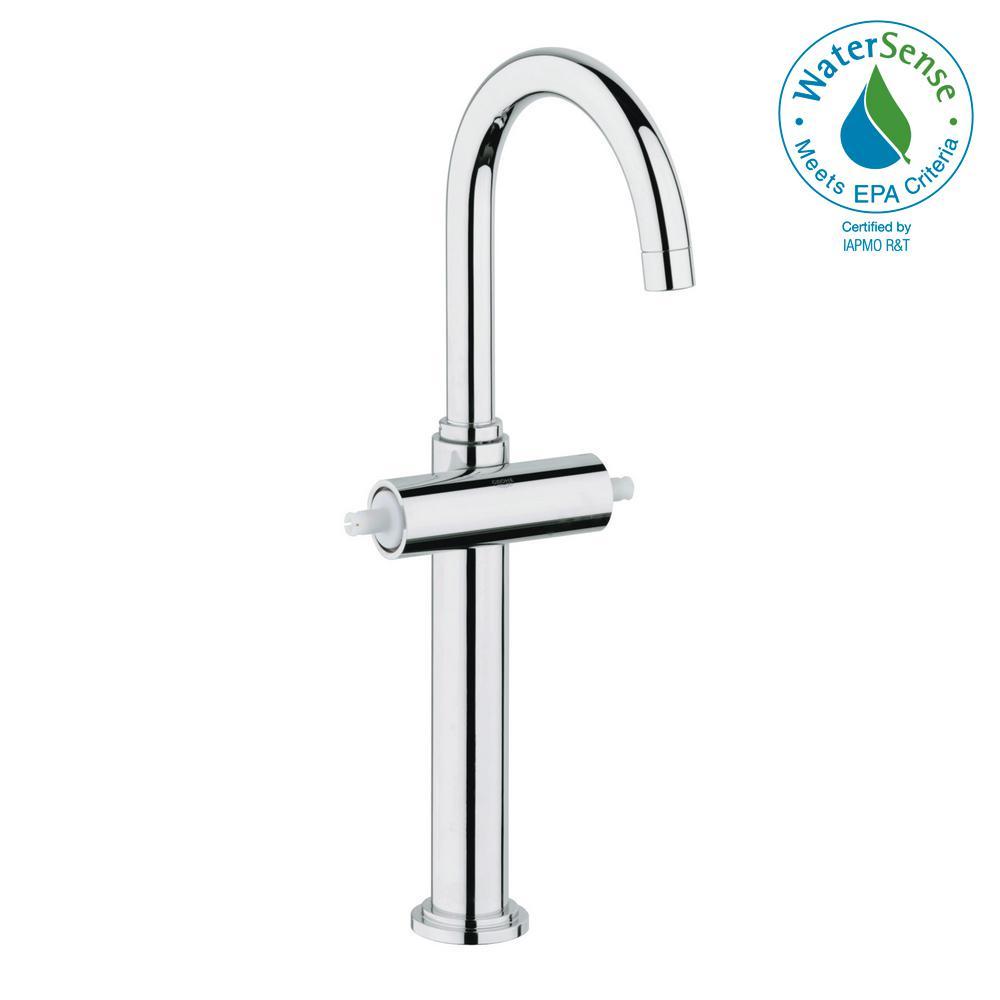 Atrio Single Hole 2-Handle 1.2 GPM Vessel Bathroom Faucet in StarLight Chrome