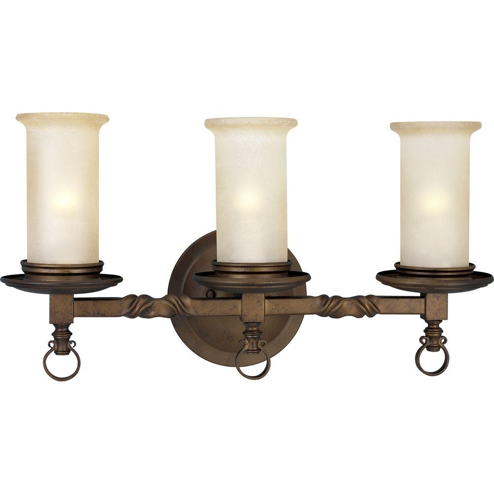 Progress Lighting Santiago Collection 3-Light Roasted Java Vanity Fixture