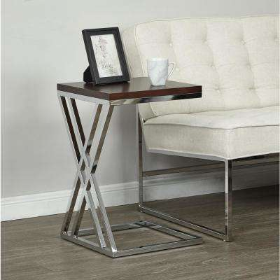 Wall Street Chrome/Espresso Coffee Table