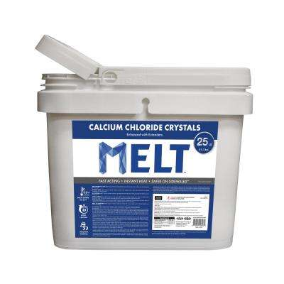 MELT 25 lb. Calcium Chloride Crystals Ice Melter Bucket