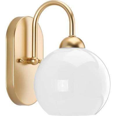 Carisa Collection 1-Light Vintage Gold Bath Light