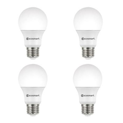 40-Watt Equivalent A19 Dimmable Energy Star LED Light Bulb Bright White (4-Pack)