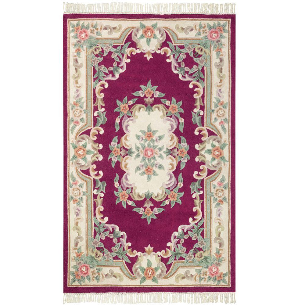 Home Decorators Collection Imperial Wine 8 Ft X 11 Ft Area Rug 0294340170 The Home Depot