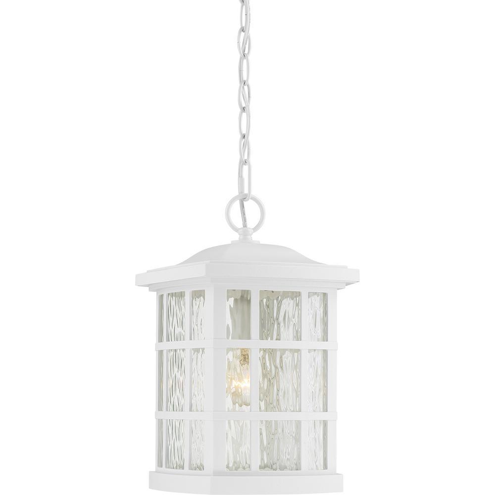 Stonington 1-Light White Outdoor Pendant Light