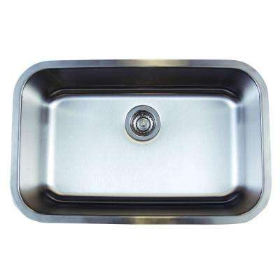 Stellar Undermount Stainless Steel 28 in. 0-Hole Super Single Bowl Kitchen Sink