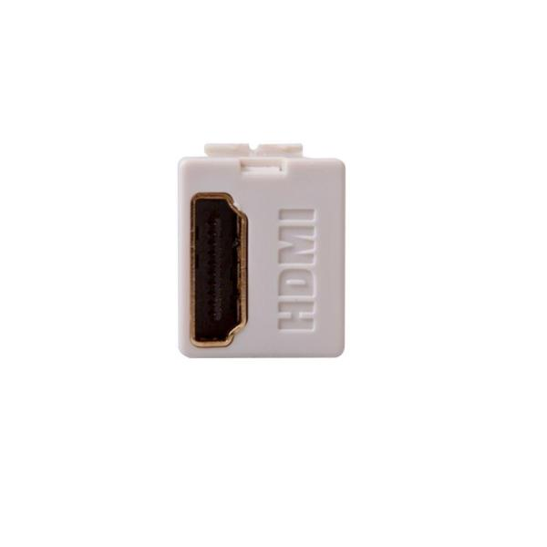 Feed Through, QuickPort HDMI Wire Connector - Ivory