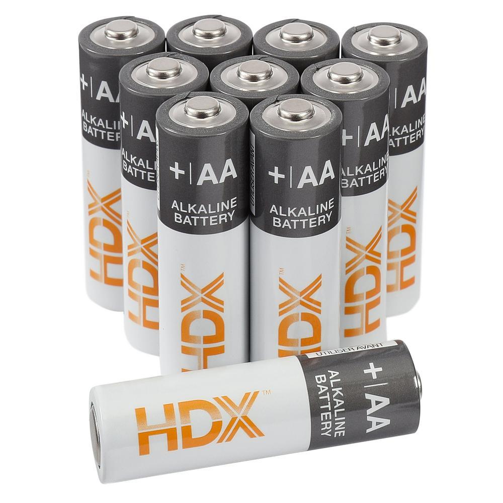 48-Pack HDX Alkaline AA Batteries