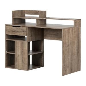Prime South Shore Holland Black Oak Desk With Hutch And Storage Download Free Architecture Designs Scobabritishbridgeorg