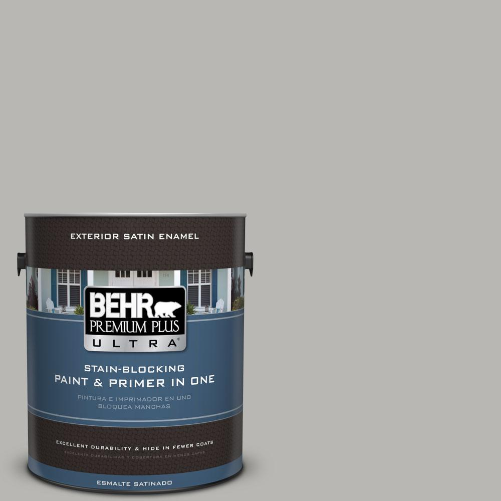 BEHR Premium Plus Ultra Home Decorators Collection 1-gal. #HDC-MD-26 Sonic Silver Satin Enamel Exterior Paint