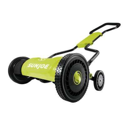18 in. 5-Position Quad Manual Walk-Behind Push Reel Mower