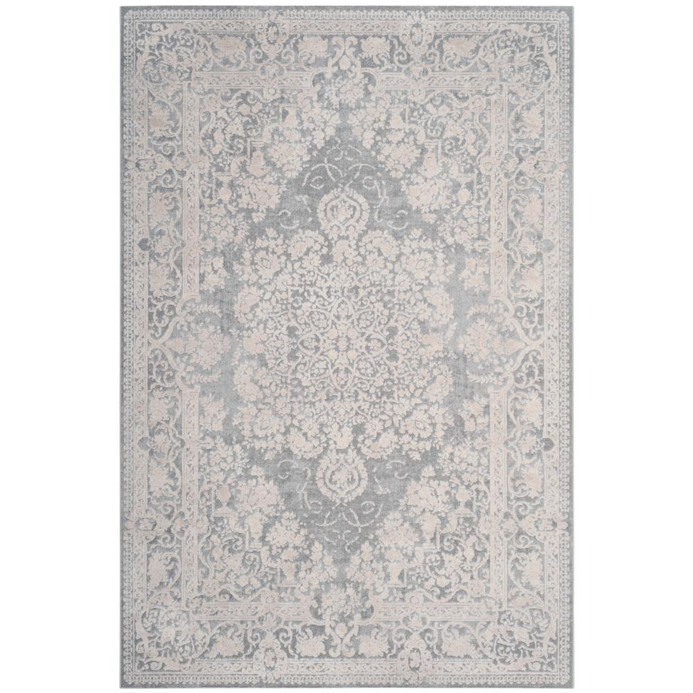 Safavieh Reflection Light Gray Cream 6 Ft X 9 Ft Area Rug Rft664c 6 The Home Depot