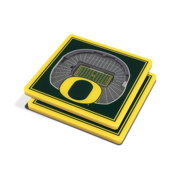 79c2a648 NCAA Oregon Ducks 3D StadiumViews Coasters